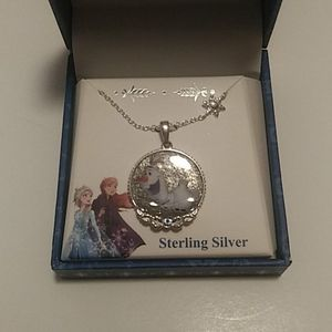 Disney Frozen ll OLAF Necklace Sterling New